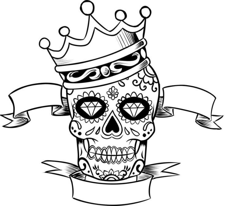 Sugar Skull King Vector Clipart
