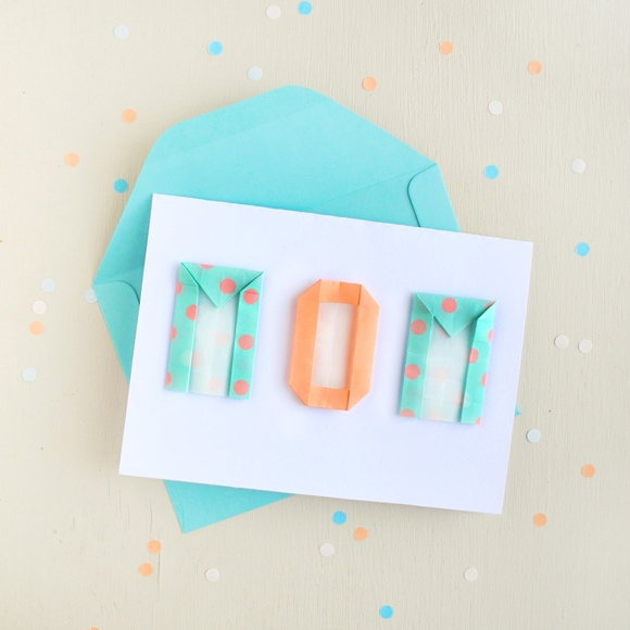 A Card With Origami Letters