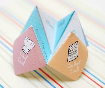 cootie catcher in stripe background