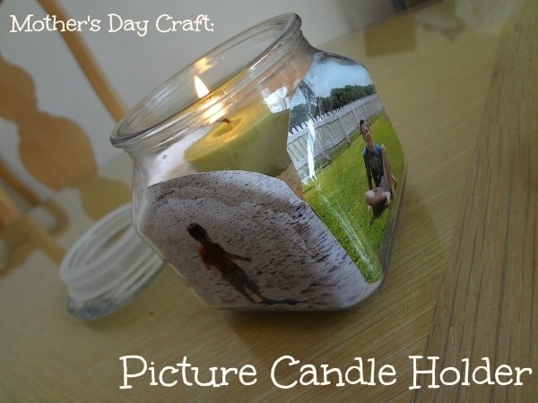 A Kid-friendly picture candle holder