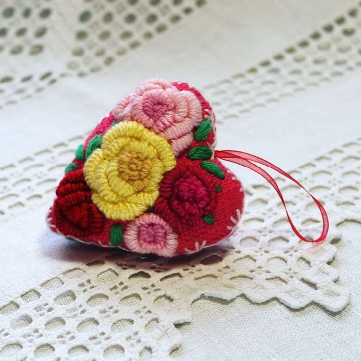 A Quilted Heart Ornament