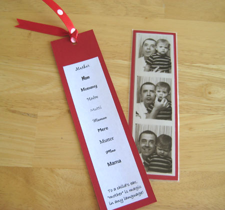 A Simple Bookmark for Mom