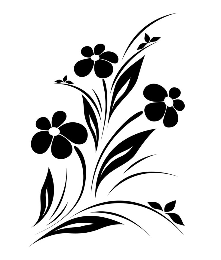 A Simple Floral Silhouette