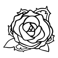 A Simple Rose Icon