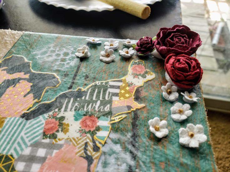 Adding Embellishments on DIY Decoupage