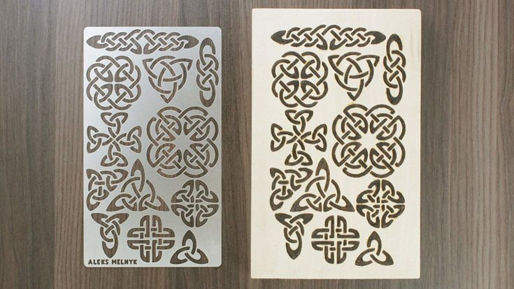 Aleks Melnyk #32 Metal Journal Stencil/Celtic Knot/Stainless Steel Stencil 1 PCS/Template Tool for Wood Burning