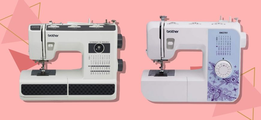 Sewing Machines in pink background