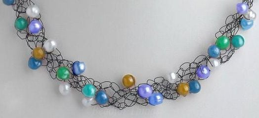 An Easter Egg Knit Necklace