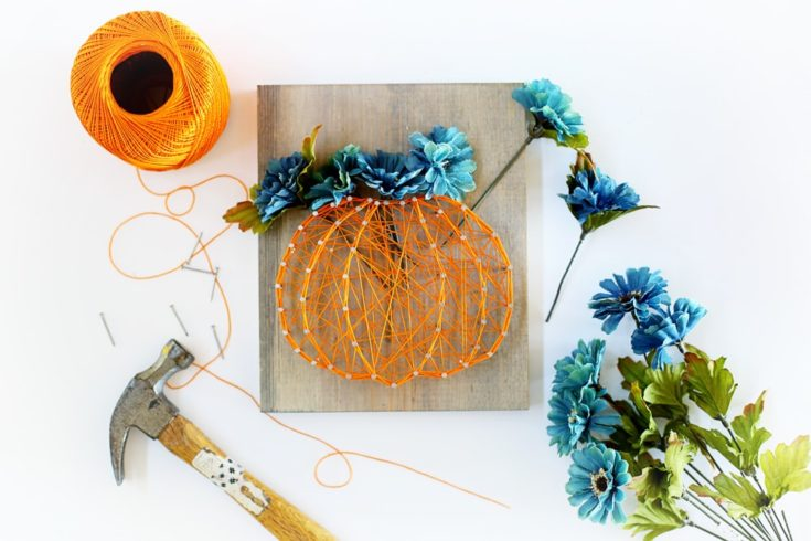 Autumn Squash string art design.