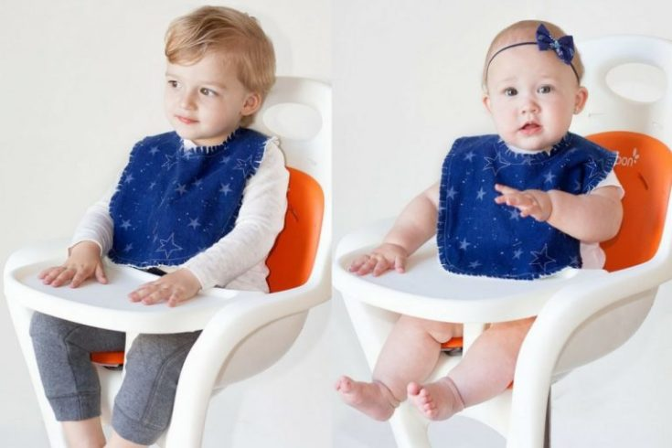 Baby boy and girl wearing cute Bib Pattern