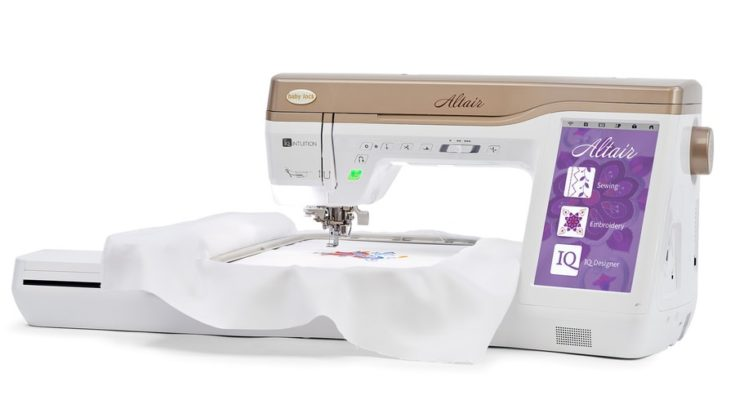 Baby Lock Altair Sewing and Embroidery Machine isolated in white background