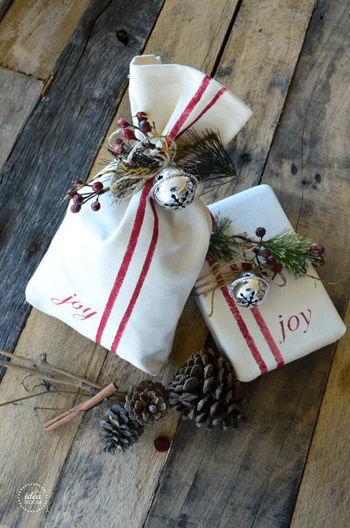 White and Red Christmas Grab Bags
