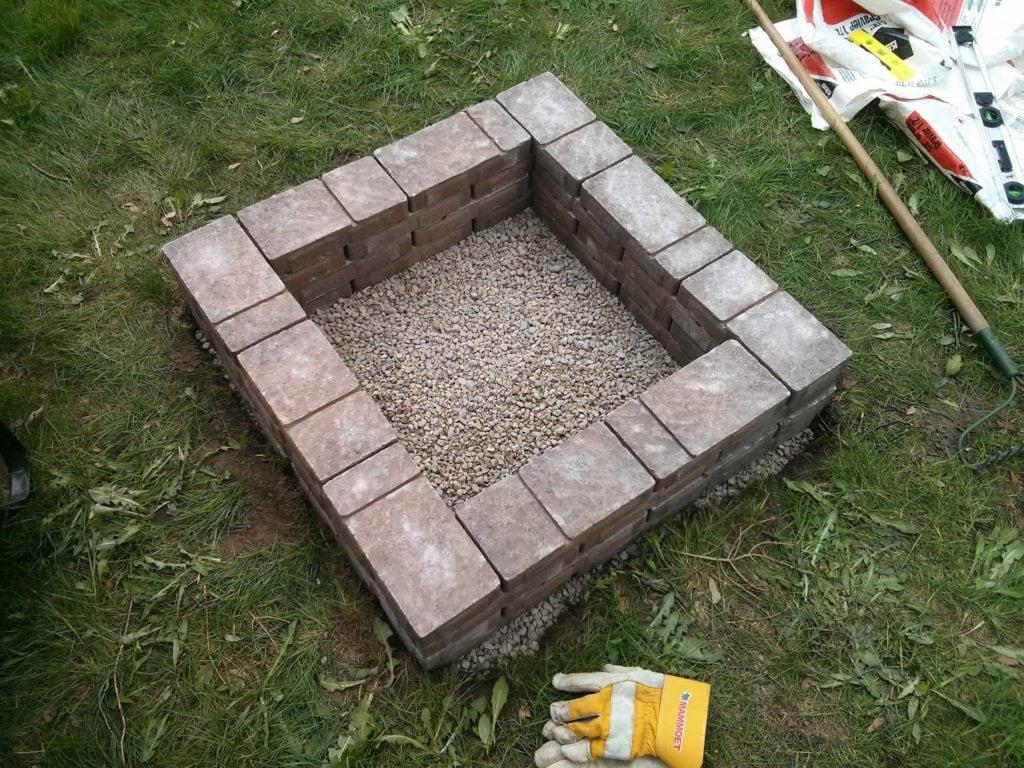 Basic Square Brick Fire Pit