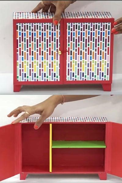 Beautiful DIY Organizer Cupboard