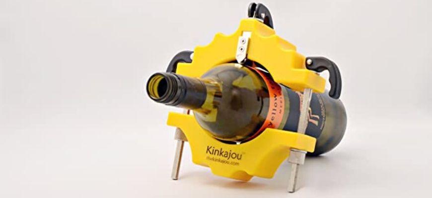 Kinkajou glass bottle cutter with a bottle on it.