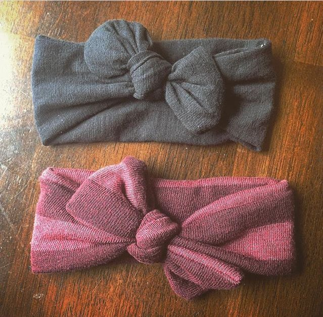 DIY bow ties from used tshirt, color pink and grey