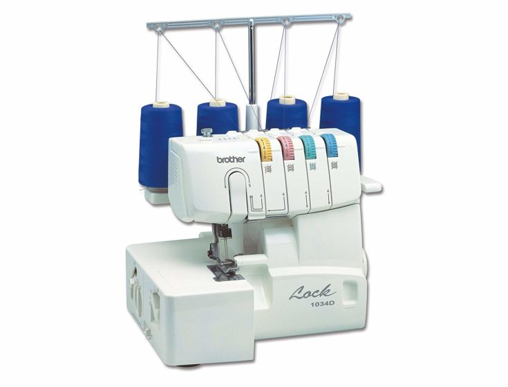 Brother 1034D 3 4 Thread Serger with Differential Feed isolated in white background