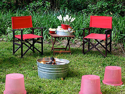 Old fashioned bucket fire pit