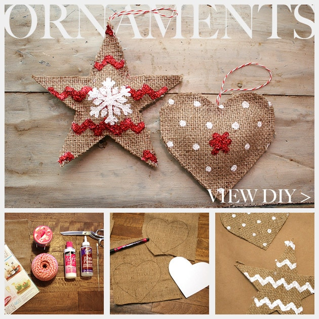 DIY Burlap ornament
