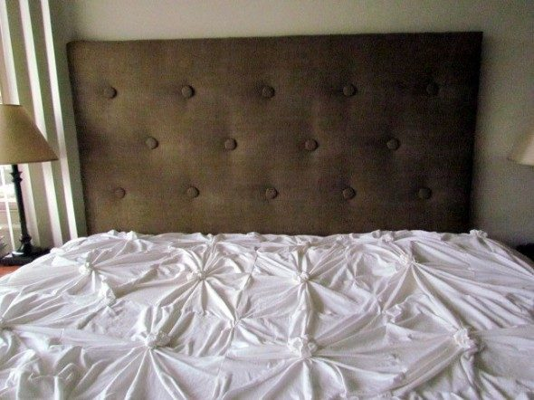 Simple buttoned headboard