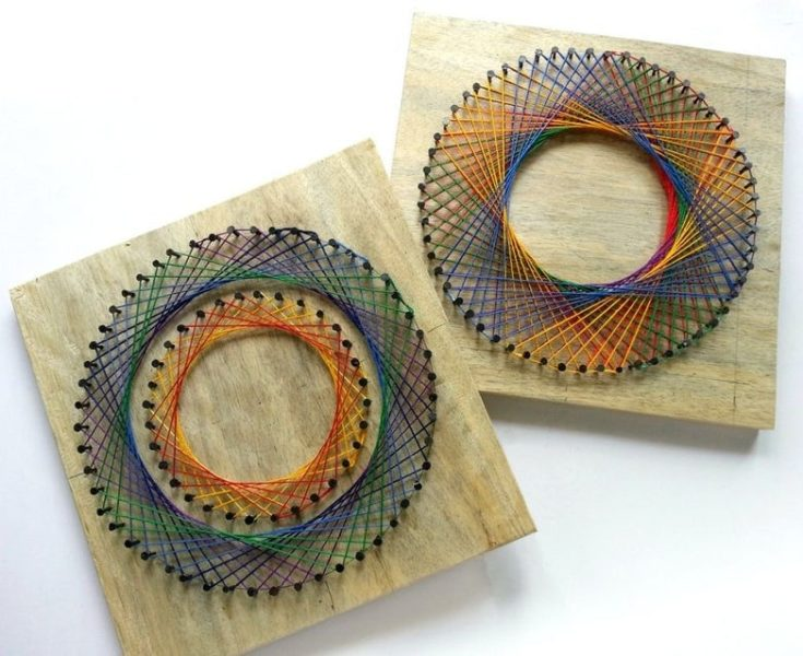 Calm circles string art