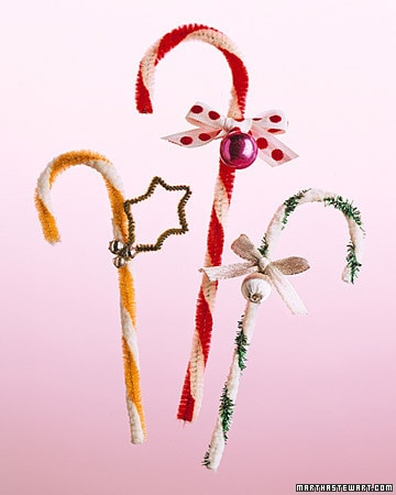 Christmas candy cane ornament by Martha Stewart