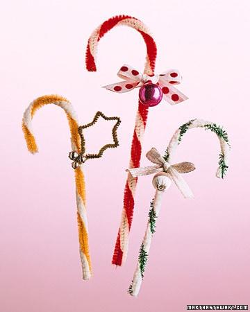 Christmas candy cane ornament by Martha Stewart