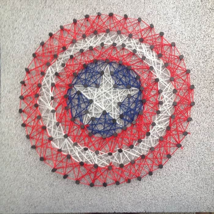 Captain America string art