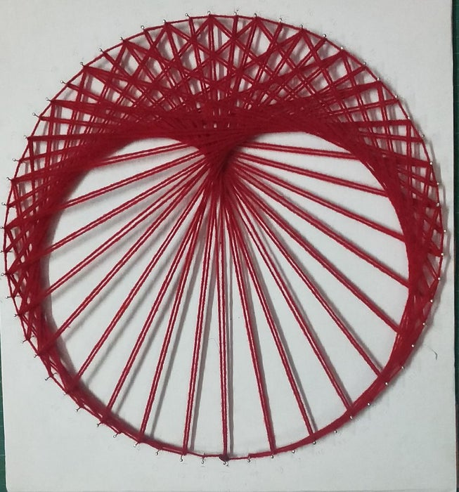 Cardioid using two times table string art design.