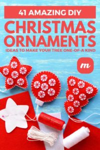 41 Amazing DIY Christmas Ornament Ideas To Make Your Tree One-Of-A Kind