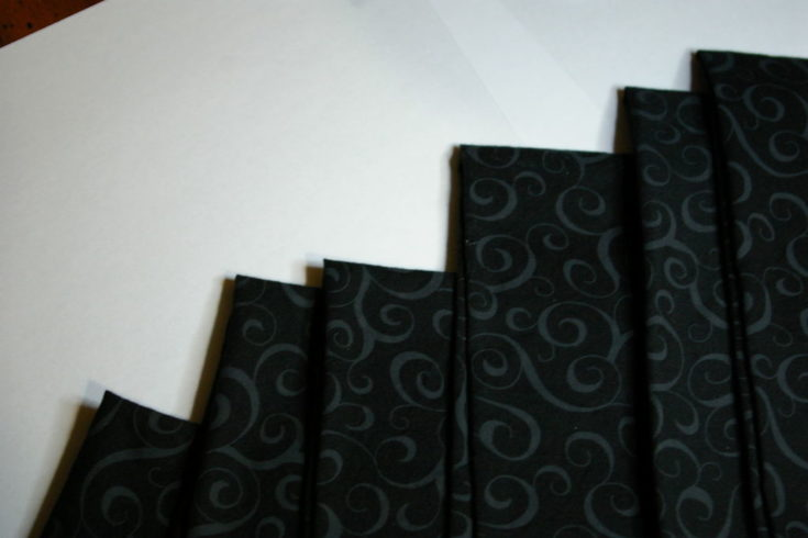 black Cloth Napkins with floral curve printed design