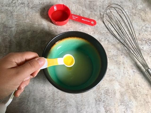 Combining all wet ingredients