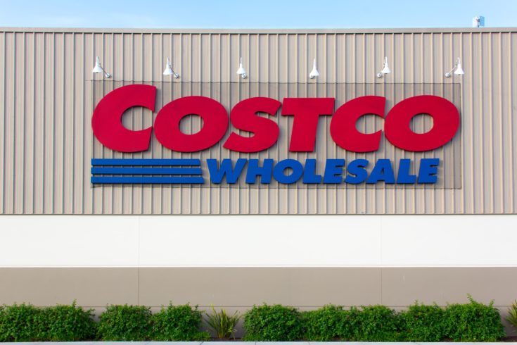 Costco Wholesale store exterior. Costco Wholesale Corporation is a membership-only store and second largest retailer in the United States.