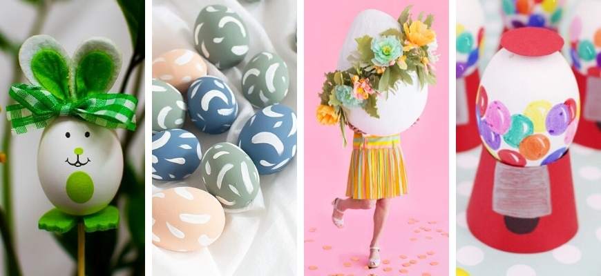 Four different Creative Easter Egg Designs