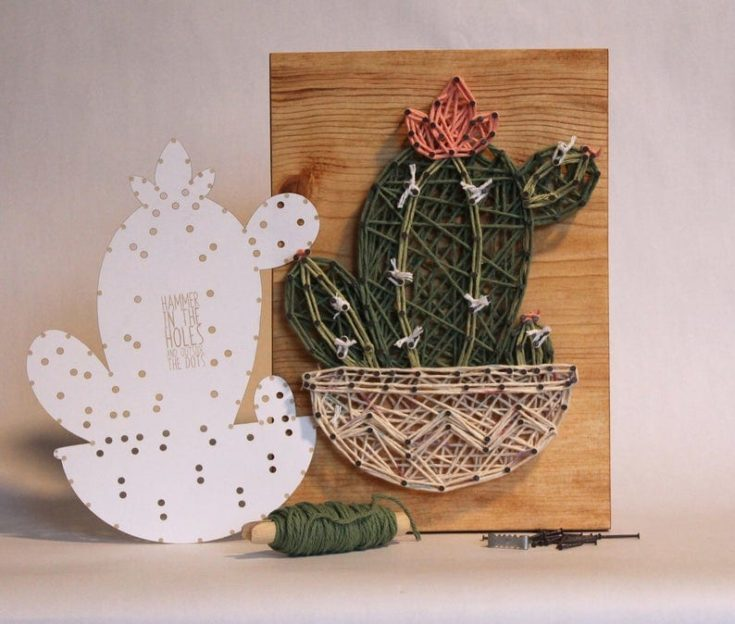 DIY Cactus Wall Decor