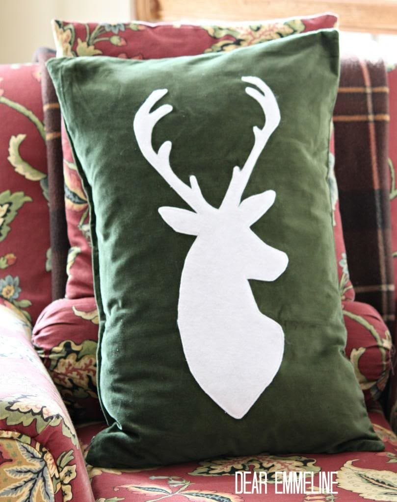 Dear Emmeline Deer Head Pillow