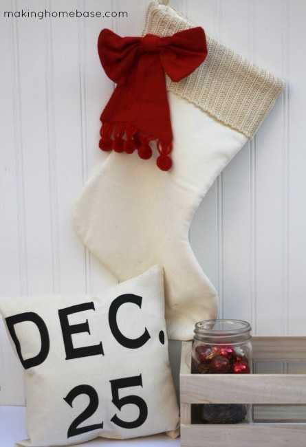 Making Homebase December 25 Pillow Canvas