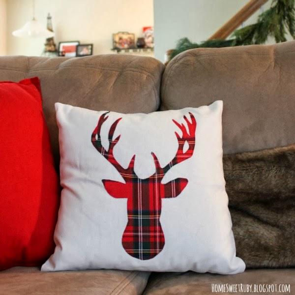 Home Sweet Ruby Deer Pillow
