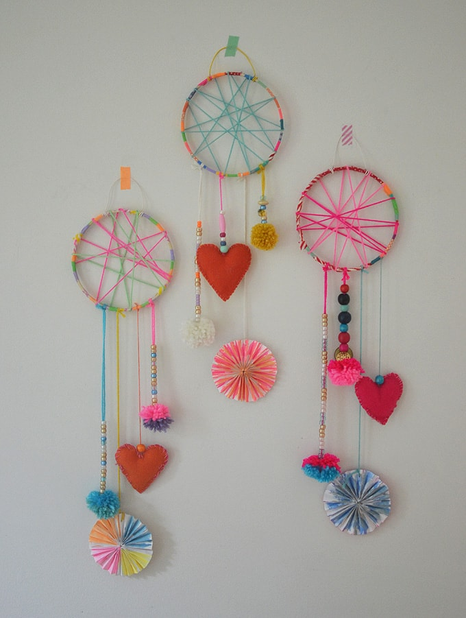 DIY Dream Catchers Made by Kids