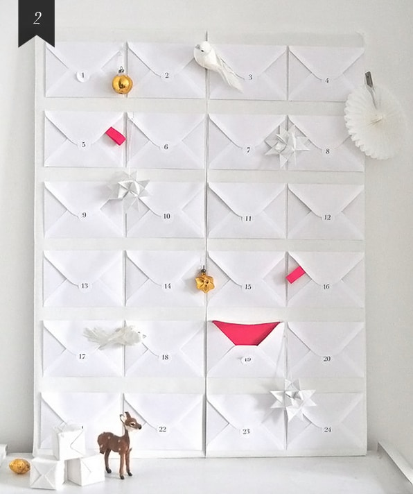 DIY Big White Envelop Advent Calendar