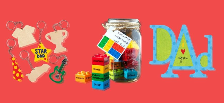 DIY Father's Day Gifts in red background