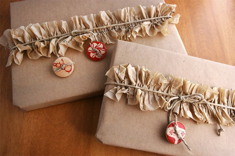 Frilly Gift Wrapping Paper