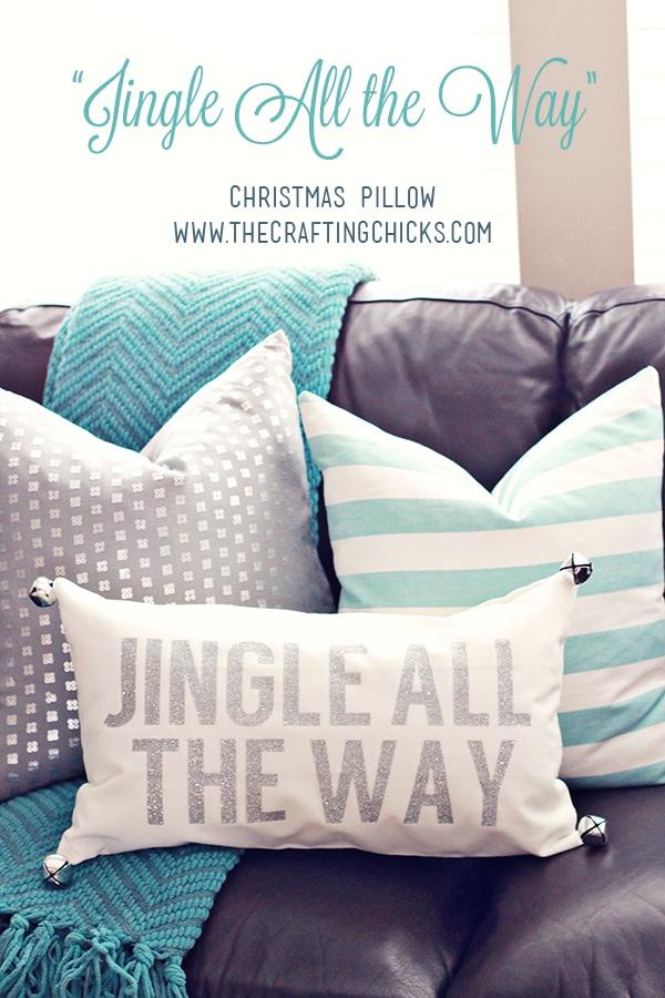 The Crafting Chicks Jingle All The Way Christmas Pillow