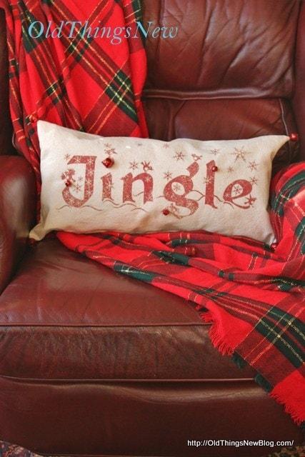 Old Things New Jingle Christmas Pillow