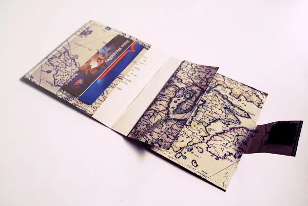 Map Wallet in white background