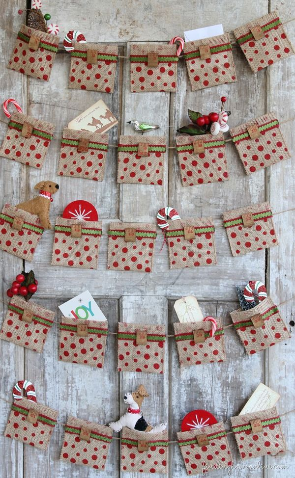 Brown pocket cloth with red polka dots tied on a white wood door