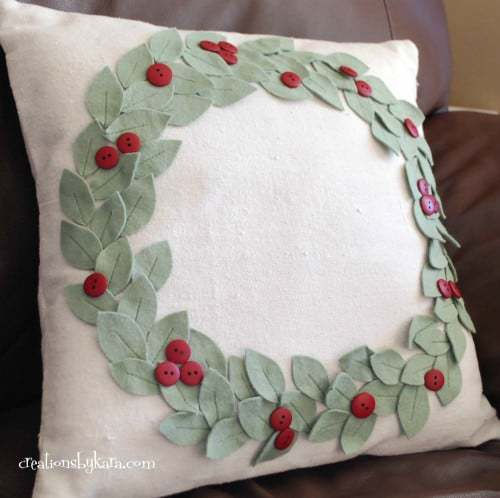 Creations by Kara Mistletoe Pillow