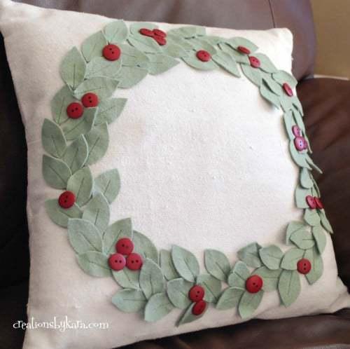 Creations by Kara Mistletoe Pillow