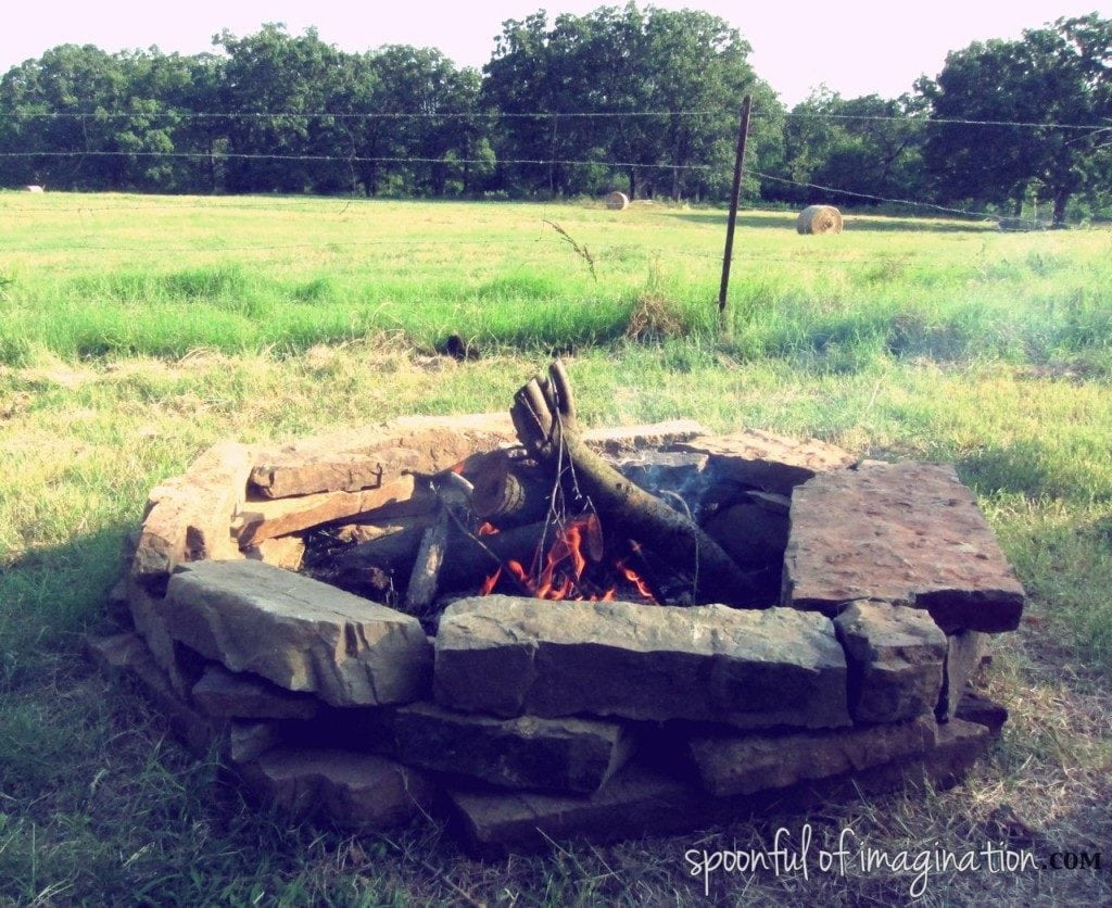 Spoonful of Imagination Rugged Looking Backyard Fire Pit