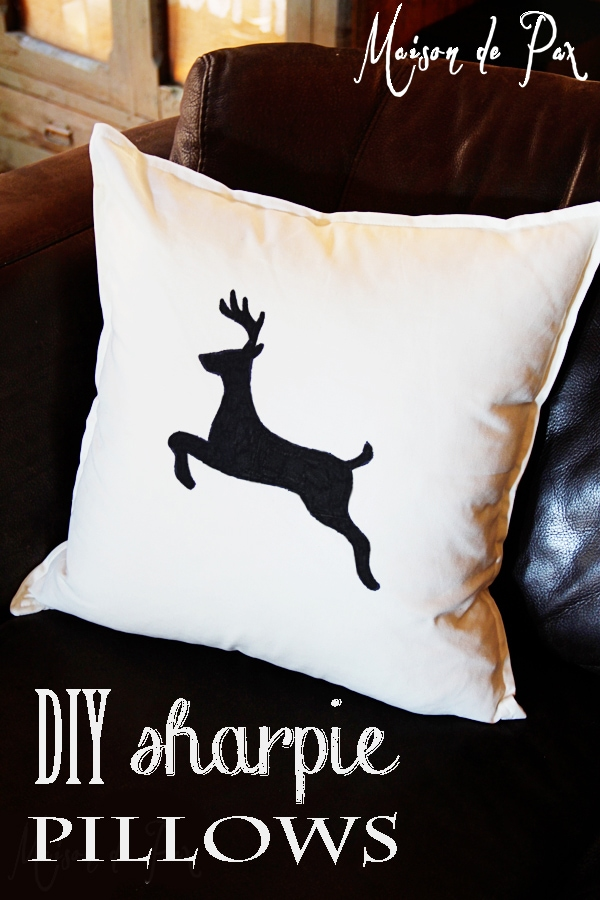 Maison de Pax DIY sharpie pillows